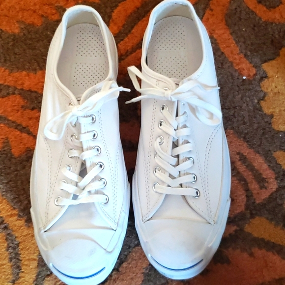 Mint Converse Jack Purcell White Sneaks 9M 10.5W